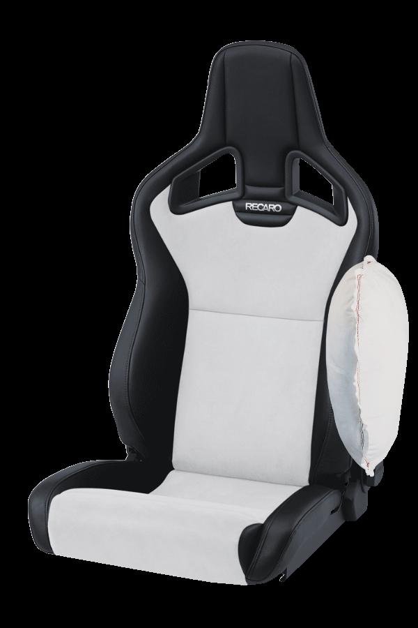 Recaro-Cross-Sportster-CS-Zij-Airbag-Dinamica-ZilverKunstleder-Zwart