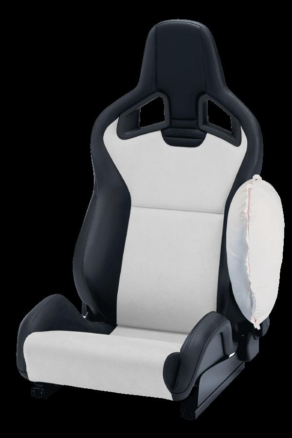 Recaro-Sportster-CS-Zij-Airbag-Dinamica-Zilver:Kunstleder-Zwart